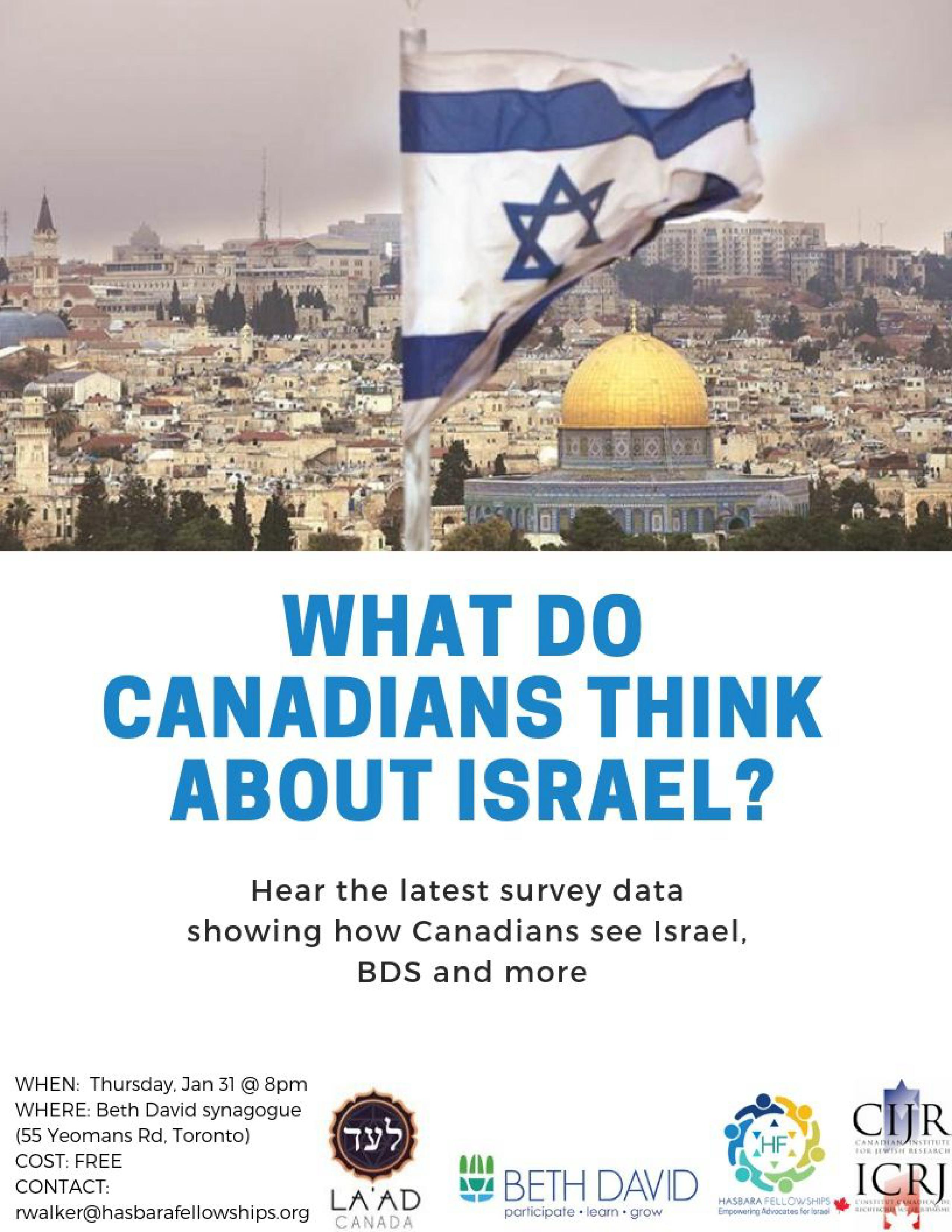 24e8ec952b0 What do Canadians think about Israel Beth David